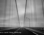 Hanging by a Thread Mackinac Bridge Black and White