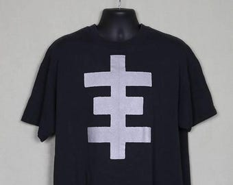 Psychic TV t-shirt, vintage rare tee shirt, double sided, psychic cross, Throbbing Gristle, Genesis P-Orridge Coil Chris & Cosey PTV3, punk