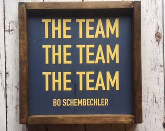 The Team (University of Michigan) | Wood Sign | Painted Wood Sign | Stained Wood Sign | Home Decor | Wall Decor | Home