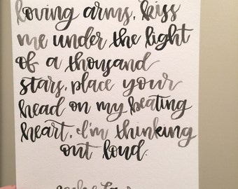Custom Watercolor Lyrics (Wedding, Occasion)