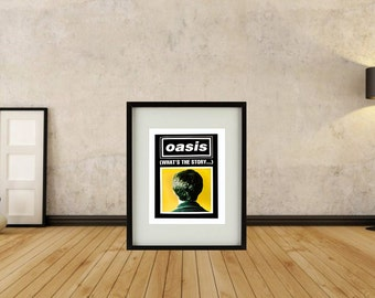 Oasis - What's The Story Morning Glory Framed Print