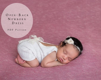 Open-Back Newborn Dress - Newborn Photography Outfit