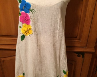 Mexican Hand Painted Knit Swing Top Ladies Women's