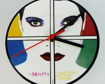 "Motels - Take The L (Out Of Lover) 7"" Picture Disc Record Clock"