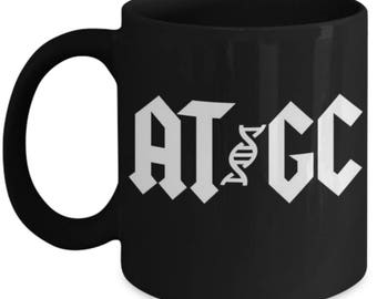 Funny Biology Mugs - AT - GC - Ideal Genetics Gifts