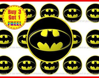 Batman Bottle Cap Images - Bottle Cap Images - Instant Download - High Resolution Images - Buy 3, Get 1 FREE