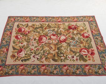 Vintag French Flowers Tapestry (284)