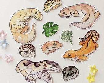 Leopard Gecko Sticker Pack