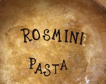 Large Ceramic Pasta Bowl - Personalized