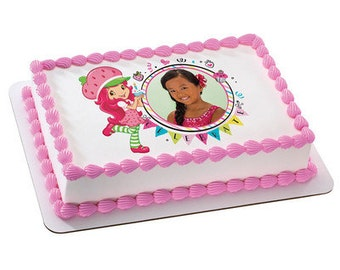 Strawberry Shortcake Celebrate You! Picture Frame Edible Cake Topper