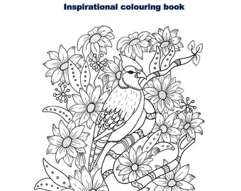 Blessings From Above inspirational adult coloring book