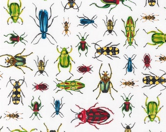 Everyday Favorites Bugs on White by Robert Kaufman  fabric by the yard