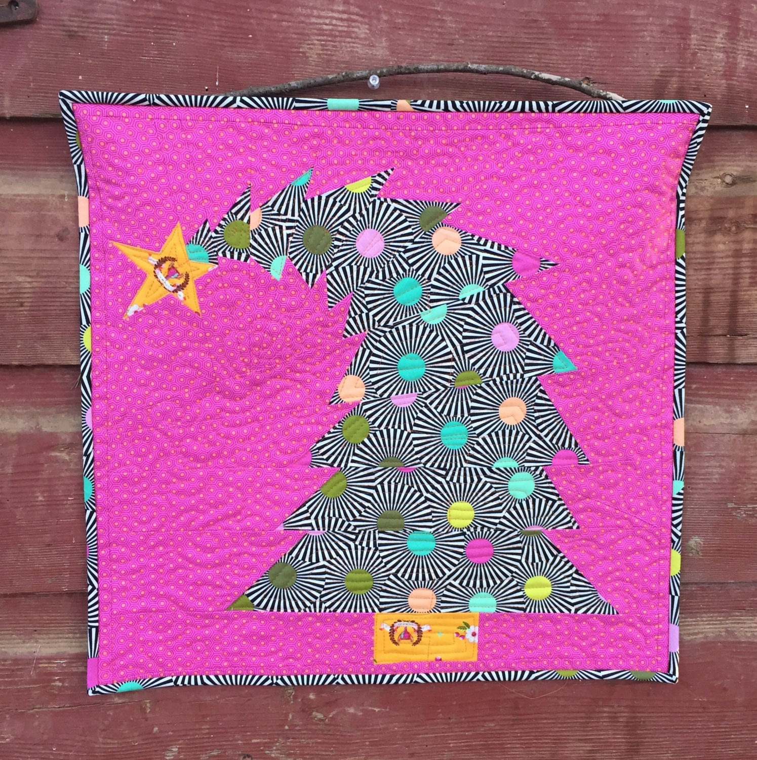 Christmas Tree Paper Piecing Patterns: The Crooked Christmas Tree Mini Quilt Pattern PDF Download