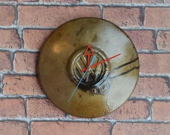Hubcap clock, Vintage clock, VW, Wall clock, Clocks, Retro clock, Steampunk clock, Original gift, Wall art, Volkswagen,Unique Clock