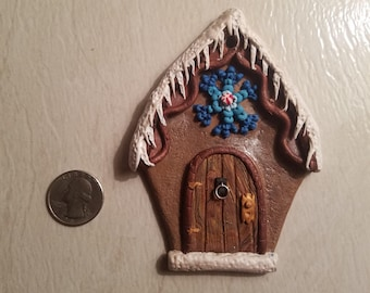 Polymer gingerbread house ornament