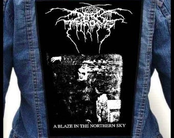 DARKTHRONE - A Blaze in the Northern Sky  === Backpatch Back Patch / Bestial Summoning Khold Zemial Moonblood Viking Crown Inquisition