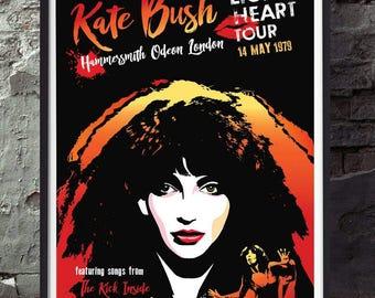 Kate Bush music poster. Wall decor art quality print. Unframed