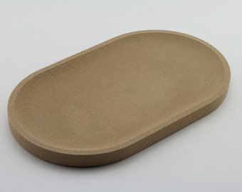 Yellow concrete oval Tray / / empty Pocket concrete / / decorative concrete tray / / concrete tray / / cast-iron serving tray