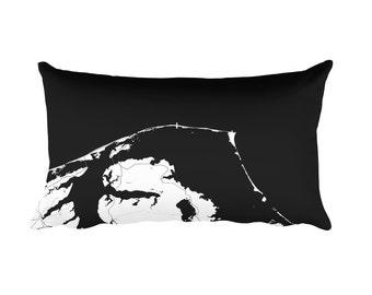 Outer Banks Pillow, Outer Banks Decor, Outer Banks Throw Pillow, Outer Banks Gift, Outer Banks Map, Outer Banks Art, Outer Banks NC, Cushion