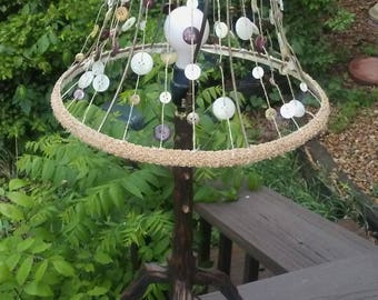 Recycled Buttons Lamp