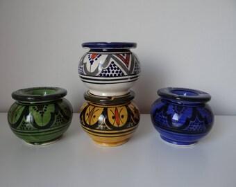Handmade Moroccan ashtray terracotta