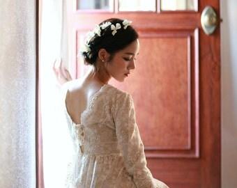 Vintage style lace dress / wedding dress / Beatrice