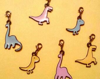 Colourful Dinosaur stitch marker set