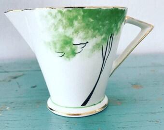 Art Deco Milk jug, Palissy hand painted vintage milk jug, made in England.