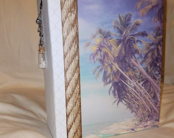 Beach mini album, mini scrapbook album, scrapbook mini album, beach photo album, premade memory album, vacation album, premade scrapbook