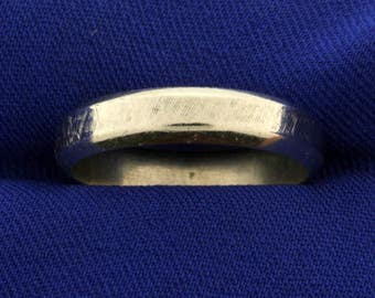 Men's White Gold Wedding Band Ring