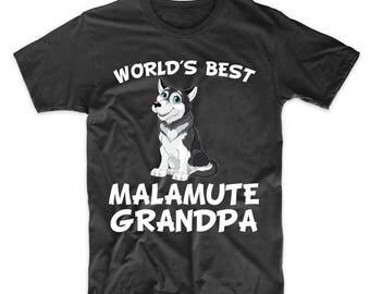 World's Best Alaskan Malamute Grandpa Dog Owner T-Shirt