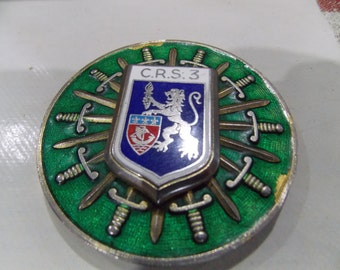 Large French military medal /disk