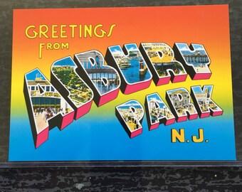 Asbury Park NJ Bruce Springsteen Original Postcard