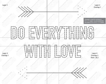 Do everything with love - String art template