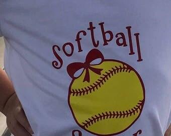Softball Shirt, Softball sister, T-Shirt, Softball sister shirt