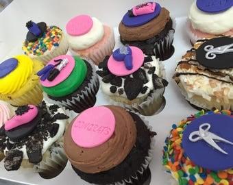 Salon Fondant Cupcake Toppers