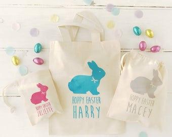 Personalised Flock Bunny Easter Bag