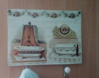 wooden hanger decoupage