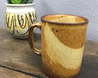 Vintage Stoneware Mug - Swoosh