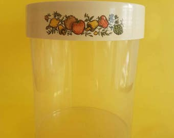 Large Canisters - Fruit and Vegetable Motif - Retro Storage