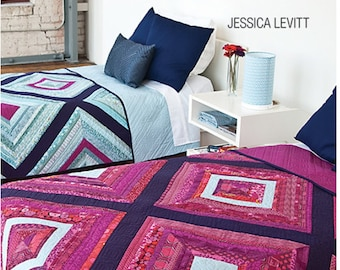 Twin String Quilt Pattern by Jessica Leavitt