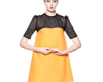 Panel Mini Orange Dress