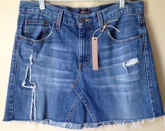 Upcycled Denim - Jean Skirt - Size 8/10