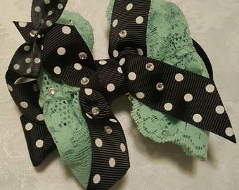 Polka-dot Bow hair clip