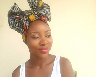 African Print Head Wrap / Ankara Head Wrap / Gift / Turban / Wax Print