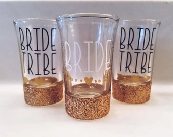 Bride Shot Glass//Bride Tribe//Bachelorette Party//Wedding Party//Love//Marriage//Wedding//Bride