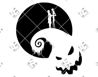 Jack Skellington Sally - Nightmare Before Christmas- Cutting File in SVG, EPS, DXF, and Studio3 - Cricut, Silhouette Cameo Studio- Cut File