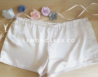 Satin Shorts - Black | Champagne | Dusty Rose | Silver