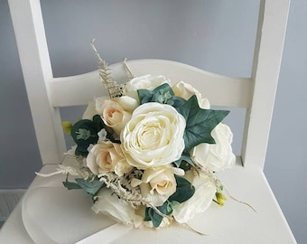 Bridal wedding bouquet / bridesmaid bouquet / white bridal bouquet