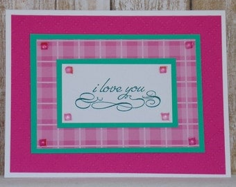 I Love You Always card, handmade greeting card, romantic cards, just because cards, thinking of you cards,